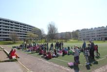 180 elever från Fröslundaskolan skapar tillsammans med Sörmlands museum