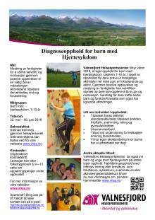 Habiliteringsopphold for barn med hjertesykdom ved Valnesfjord Helsesportssenter