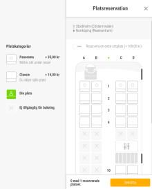 FlixBus: Nu kan passagerare reservera platser och boka dubbla säten ombord