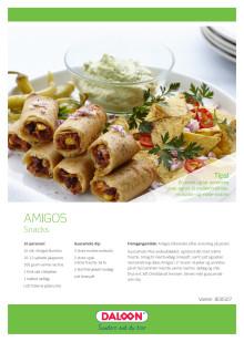 Opskrift: Amigos tex-mex burritos. Snacks