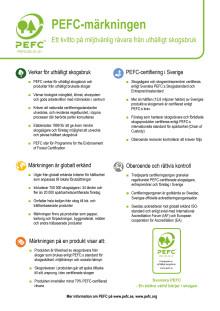 PEFC-märkningen: ett kvitto på miljövänlig råvara från uthålligt skogsbruk