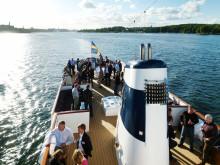 Ny plats för Samhällsbyggararenan i Almedalen – M/S Blue Charm med bästa läge i Visby hamn