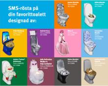Kronprinsessan närvarar då kändistoaletter ställs ut i Stockholm