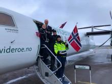 Widerøe fyller 85 år og 85 passasjerer får med seg en hyggelig overraskelse!