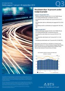 BTS Group AB (publ) 1 januari - 30 september 2014 kvartalsrapport