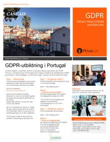 GDPR-utbildning Cascais Lissabon