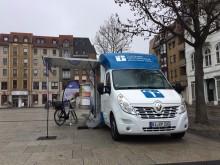 Beratungsmobil der Unabhängigen Patientenberatung kommt am 14. August nach Cottbus.