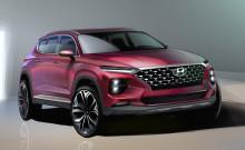 Första animerade bilderna på fjärde generationen Hyundai Santa Fe