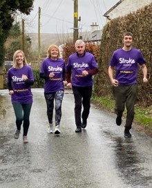 Local family joins the resolution for the Stroke Association