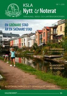 Ute nu: KSLA Nytt & Noterat nr 1-2018