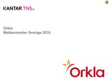 Orkla Matbarometer 2016 Svenskt resultat
