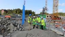 Vectura har tagit första spadtaget i Sigtuna stadsängar