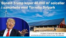 Trump investerar i solen - blir andelsägare i Kalmarsund Sol