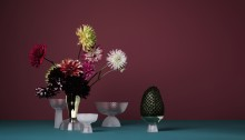 """Flowers make you happy"" - Ruby Barber about floral art work and her favourite vases"