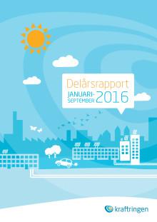 Delårsrapport kvartal 3 2016