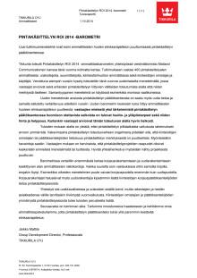 Pintakasittelyn ROI 2014 -raportti