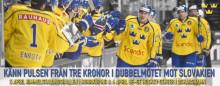 Tre Kronor spelar i Norrköping och Oskarshamn 5 och 6 april 2018