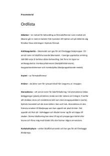 Ordlista - Förmaksflimmer och stroke från A till Ö