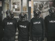 Minnesmanifestation för hundarna på Göteborgs universitet