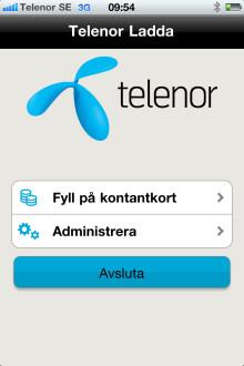 Telenor lanserar laddningsapplikation för kontantkortskunder