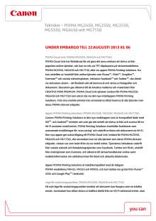 Canon Teknisk förklaring PIXMA aug 2013