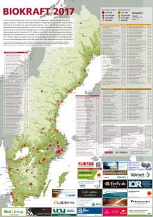 Bioenergis karta: Biokraft i Sverige 2017