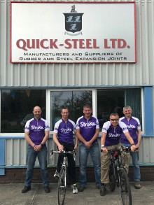 ​Quicksteel team to take on 230 mile cycle in memory of colleague