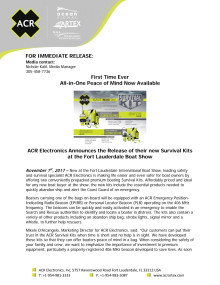ACR Electronics Announces the Release of their new Survival Kits at the Fort Lauderdale Boat Show