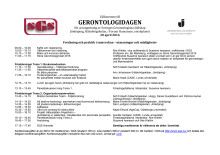Program Gerontologidagen 2016