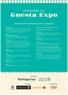 Program för dagen Gnesta Expo 10 oktober 2105