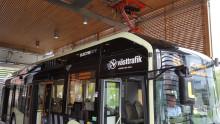 Stadsbussar laddade med förnybar el