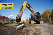 Engcon støtter nå Trimbles nye gravesystem