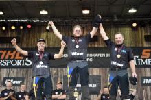 Sverige går för guld i nordiska mästerskapen i Timbersports