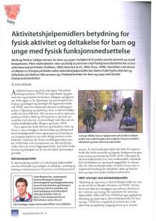 Artikkel i Ergoterapeuten 4/2012