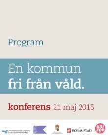 Program för konferensen En kommun fri från våld