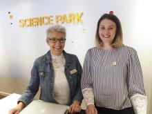 Martina Rydell och Ida Boman förstärker Science Parks servicefunktion och marknadsavdelning