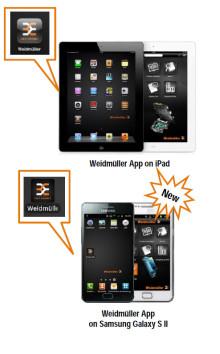 Weidmüllers App för android finns nu också tillgänglig att ladda ned