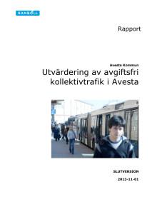 Utvärdering av avgiftsfri kollektivtrafik i Avesta