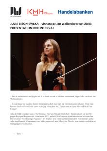 Julia Biegniewska: presentation och intervju (pdf)