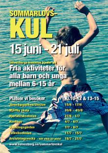Gratis sommarlovsaktiviteter för alla barn i åldrarna 6-15 år