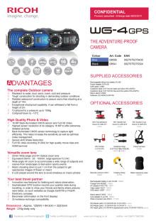 Ricoh WG-4 GPS datablad