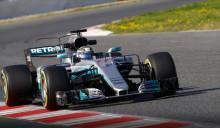 F1-bilar med ny aerodynamisk design