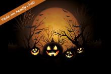 Halloweenbus i Procurators butiker