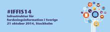 Pressinbjudan: Konferens kring Infrastruktur för forskningsinformation, Stockholm, 21 oktober 2014