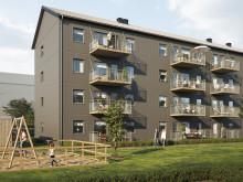 BoKlok-lägenheter lyfts på plats i Holmängs Hage, Vänersborg!
