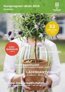 Kursprogram Studieförbundet Vuxenskolan Stockholm Våren 2016