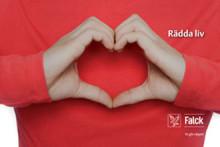 Falck levererar hjärtstartare och utbildning i hjärt- lungräddning till TRR Trygghetsrådet