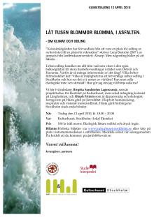 Inbjudan till Klimatsalong 13/4 kl 18.00 på Ekoteket om Urban odling