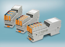 Space saving I/O modules for the control cabinet