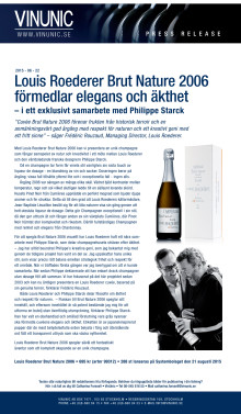 Press release Louis Roederer Brut Nature 2006